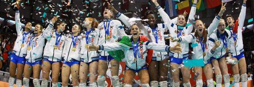 Orgoglio per la vittoria delle Azzurrine della Pallavolo