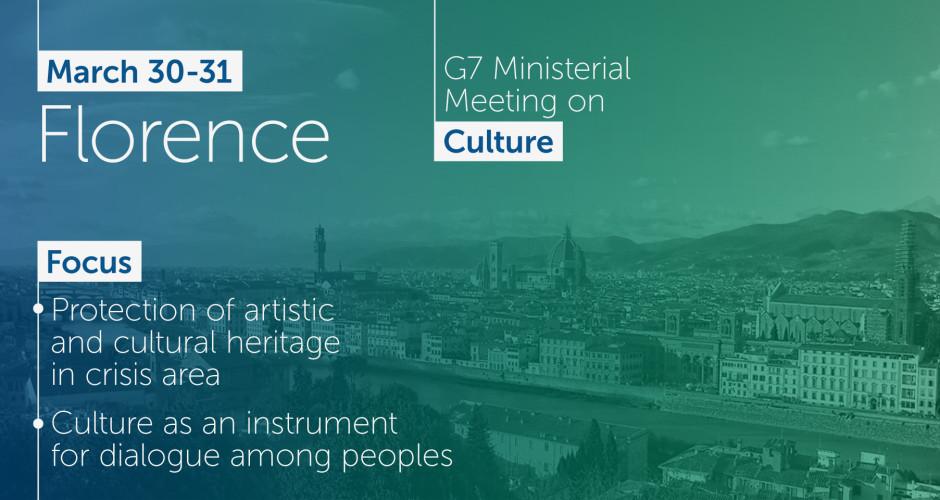 Il 30 e 31 marzo partecipo al G7 della Cultura