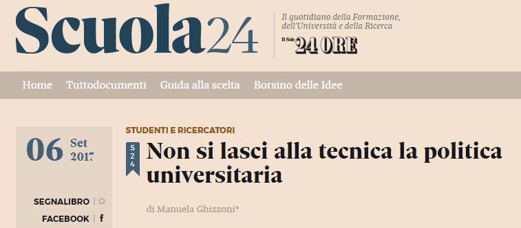 Ghizzoni: non si lasci alla tecnica la politica universitaria