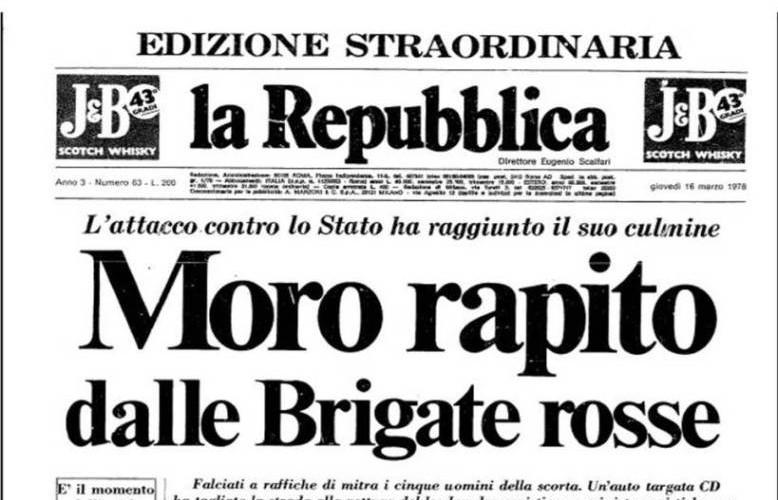 16 marzo 1978: il giorno del rapimento di Aldo Moro