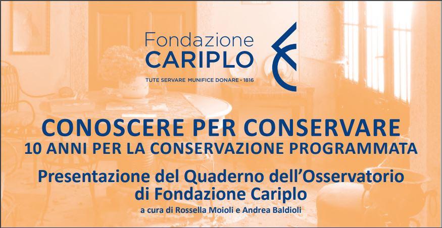 """Fondazione Cariplo: """"Conoscere per conservare"""""""