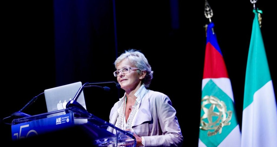 Elena Cattaneo, intervento 150 anni AIE