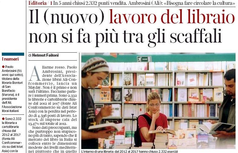 """Ambrosini: """"Il (nuovo) lavoro del libraio non si fa più tra gli scaffali"""""""
