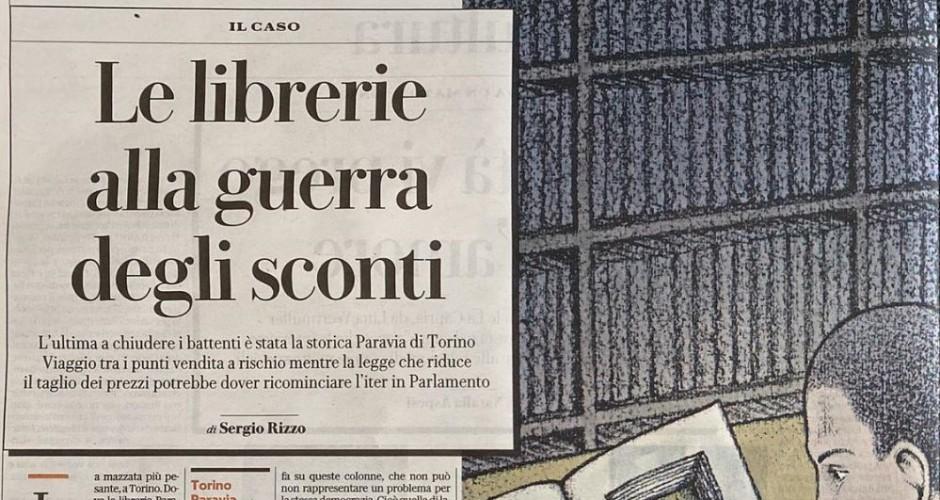 """La Repubblica, Sergio Rizzo: """"Le librerie alla guerra degli sconti"""""""
