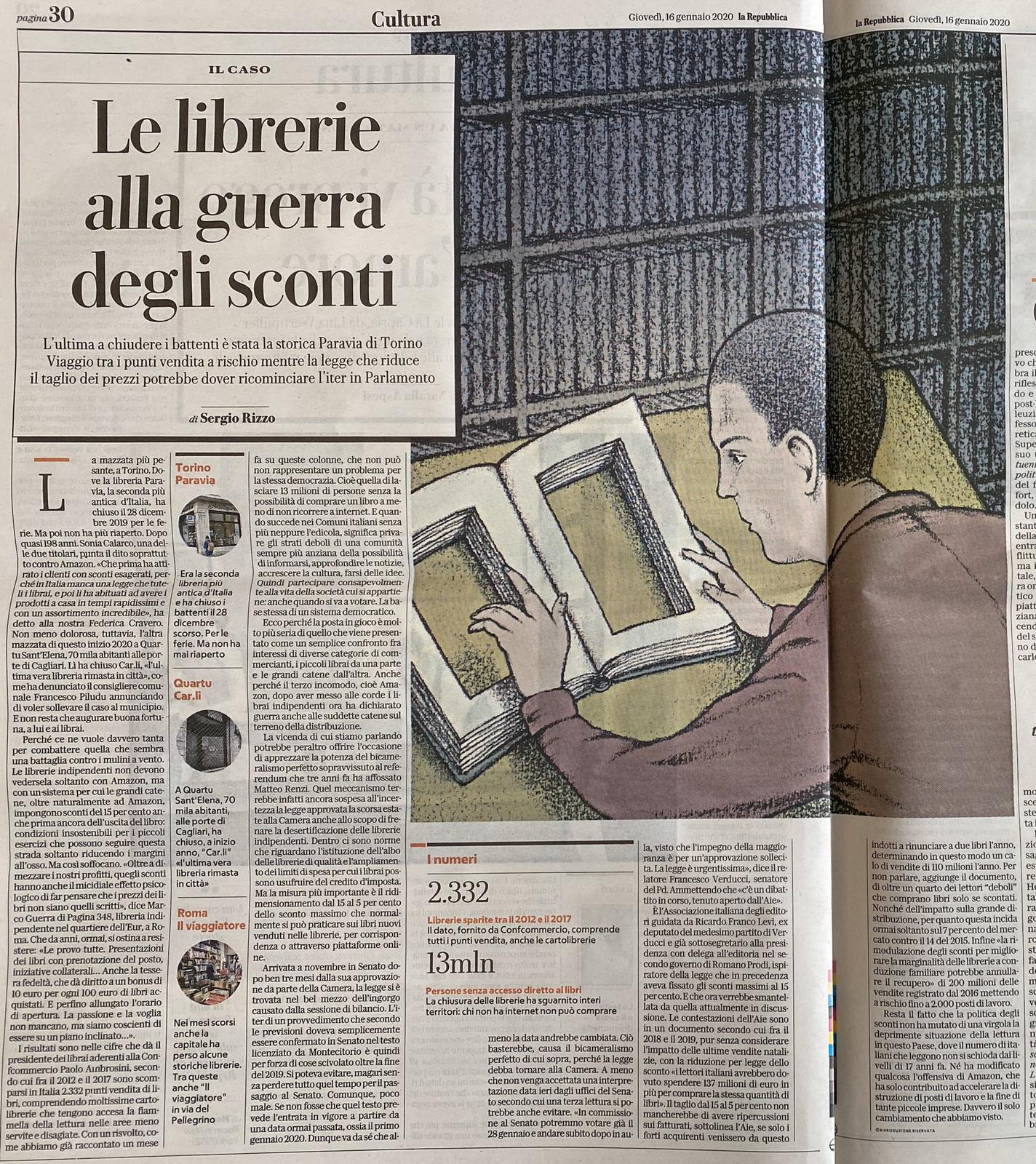 Repubblica Rizzo Librerie alla guerra degli sconti