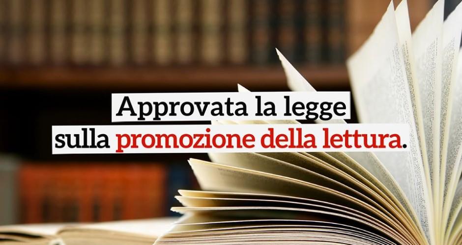 Approvata la legge per la promozione della lettura
