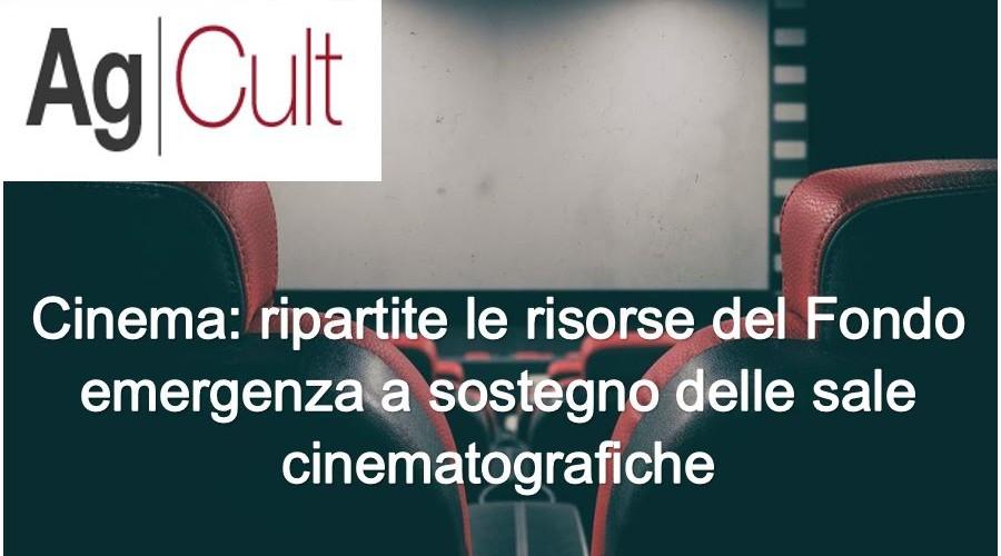 Cinema, AgCult: ripartite risorse del Fondo emergenza a sostegno sale cinematografiche