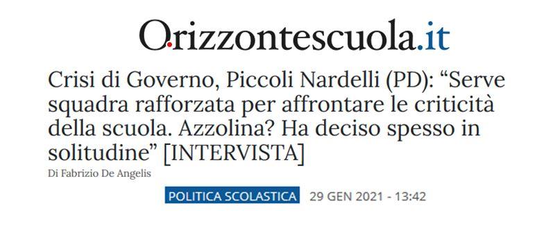 Intervista a Flavia Piccoli Nardelli sulla crisi di Governo